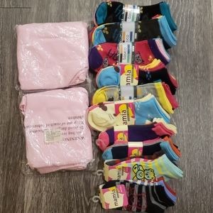 2 Lil Girls Leggings(FREE SOCKS)